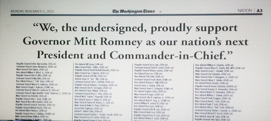 Nov. 05, 2012 on the eve of the General Election
